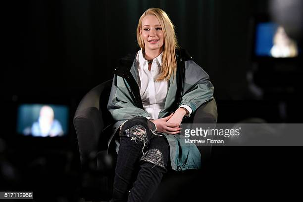 Rapper Iggy Azalea visits at Music Choice on March 23 2016 in New York City