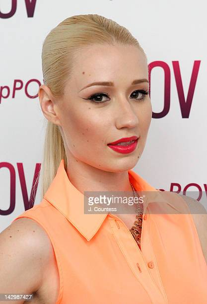 Rapper Iggy Azalea visits MTV's 'Hip Hop POV' at the MTV Studios in Times Square on April 16 2012 in New York City