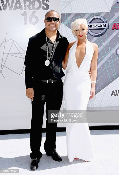 Rapper Irv Gotti and model Ashley Martelle attend the 2016 BET Awards at the Microsoft Theater on June 26 2016 in Los Angeles California