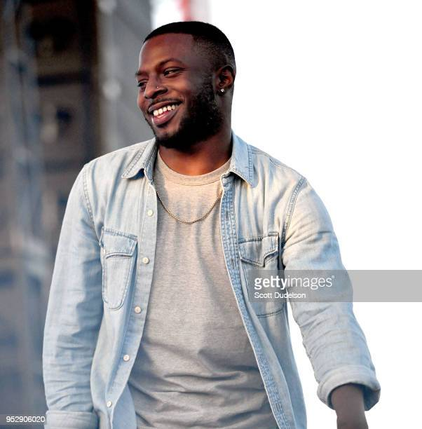 Isaiah rashad stock photos and pictures getty images rapper isaiah rashad performs onstage during the smokers club festival at the queen mary on april altavistaventures Gallery