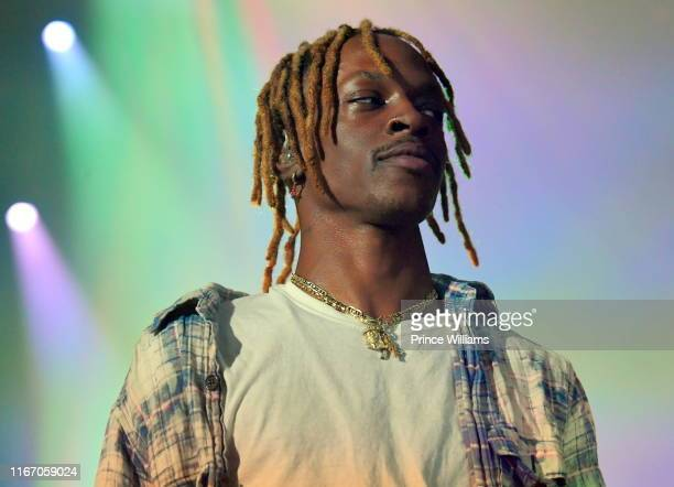 Rapper Issa gold of the group Underachievers performs at Beast Coast Flatbush Zombies Joey Bada$$ at Coca Cola Roxy on August 6 2019 in Atlanta...