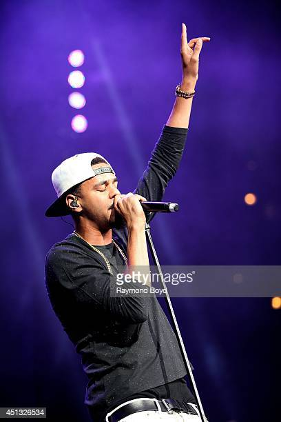 Rapper J Cole performs at the United Center during the 'WGCIFM Summer Jam 2014' on June 22 2014 in Chicago Illinois