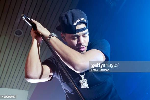 Rapper J Cole performs live during a concert at the Astra on November 16 2013 in Berlin Germany