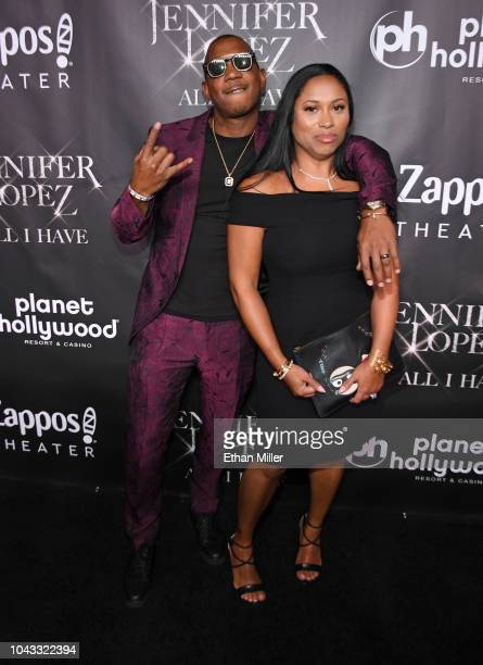 Rapper Ja Rule and his wife Aisha Atkins attend the after party for the finale of the JENNIFER LOPEZ ALL I HAVE residency at MR CHOW at Caesars...