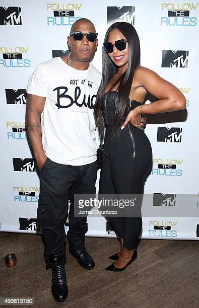 Rapper Ja Rule and singer Ashanti attend the MTV And Ja Rule 'Follow The Rules' Premiere Party at Catch on October 21 2015 in New York City
