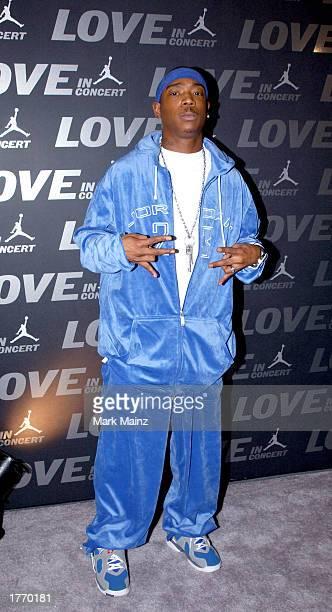 Rapper Ja Rule attends the Jordan Presents LOVE In Concert in Atlanta at the AmericasMart February 7 2003 in Atlanta Georgia