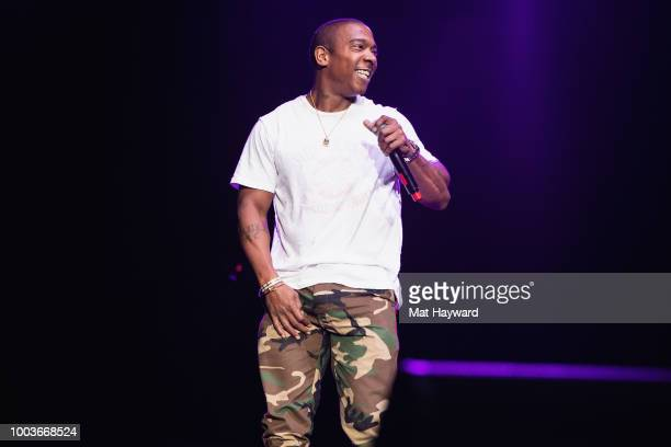 Rapper Ja Rule performs on stage during the All Star Throwback Jam hosted by HOT 1037 at ShoWare Center on July 21 2018 in Kent Washington