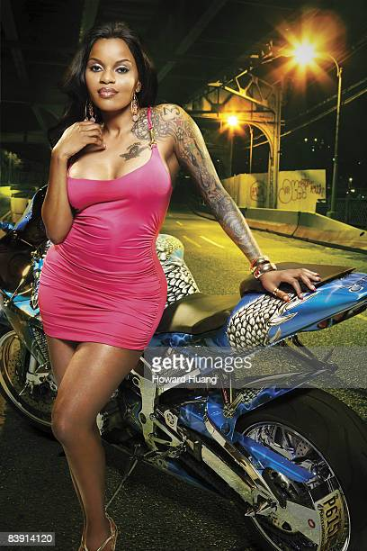 Rapper Jacki O is photographed for Urban Ink Magazine