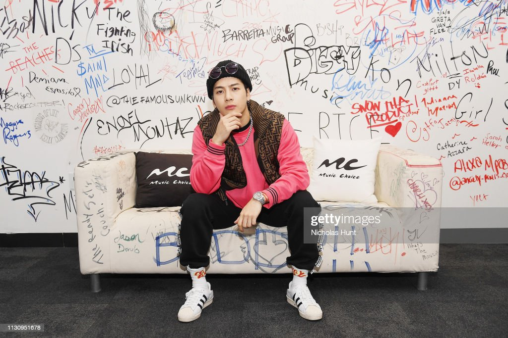 NY: Jackson Wang Visits Music Choice