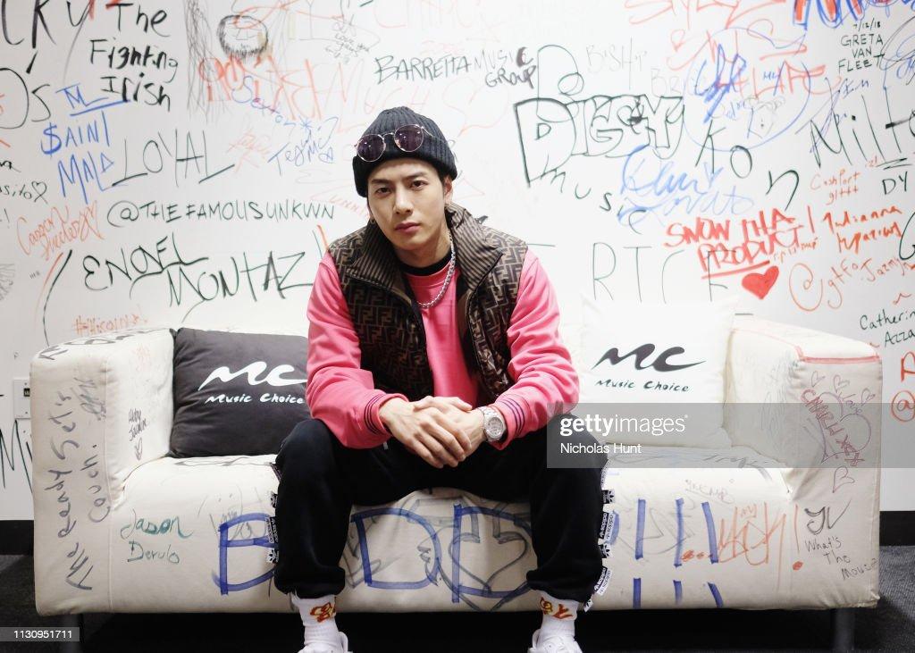 Jackson Wang Visits Music Choice : News Photo