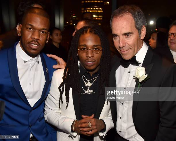 Rapper Jacquees and Chairman/CEO of Republic Records Monte Lipman attends the Universal Music Group's 2018 After Party to celebrate the Grammy Awards...