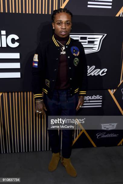 Rapper Jacquees attends Republic Records Celebrates the GRAMMY Awards in Partnership with Cadillac Ciroc and Barclays Center at Cadillac House on...