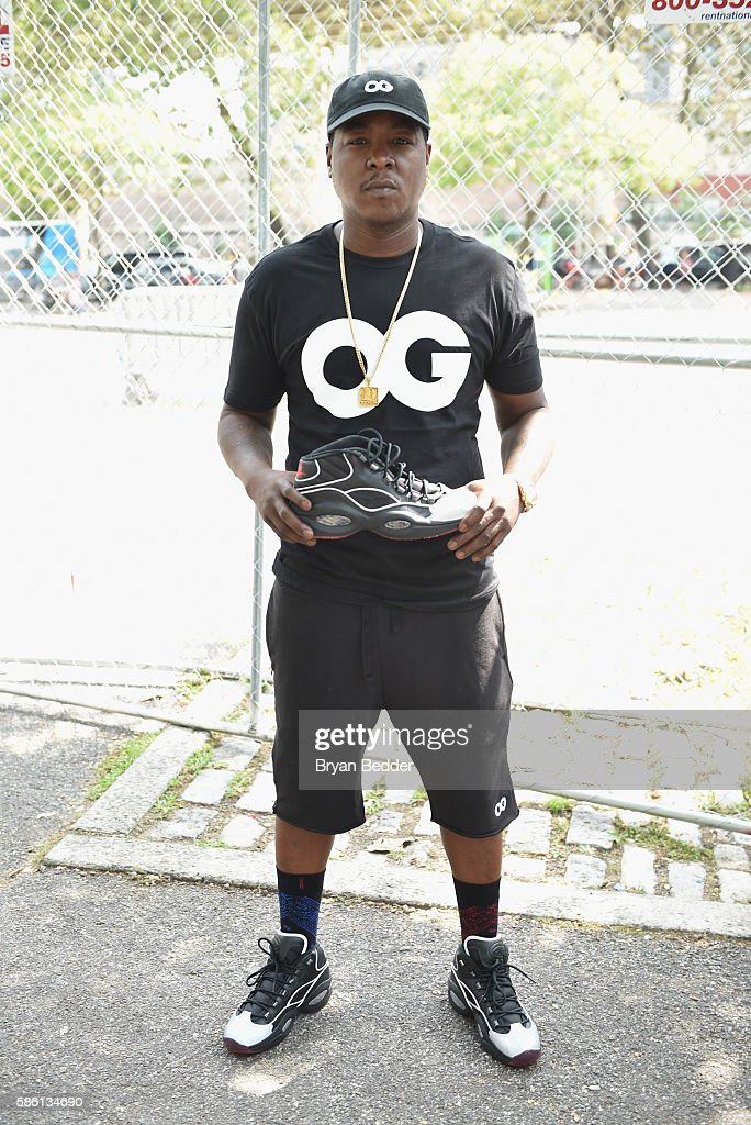 Rapper Jadakiss attends the Launch of the new Reebok Question Mid EBC & A5 with Cam'ron and Jadakiss at Rucker Park on August 4, 2016 in New York City.
