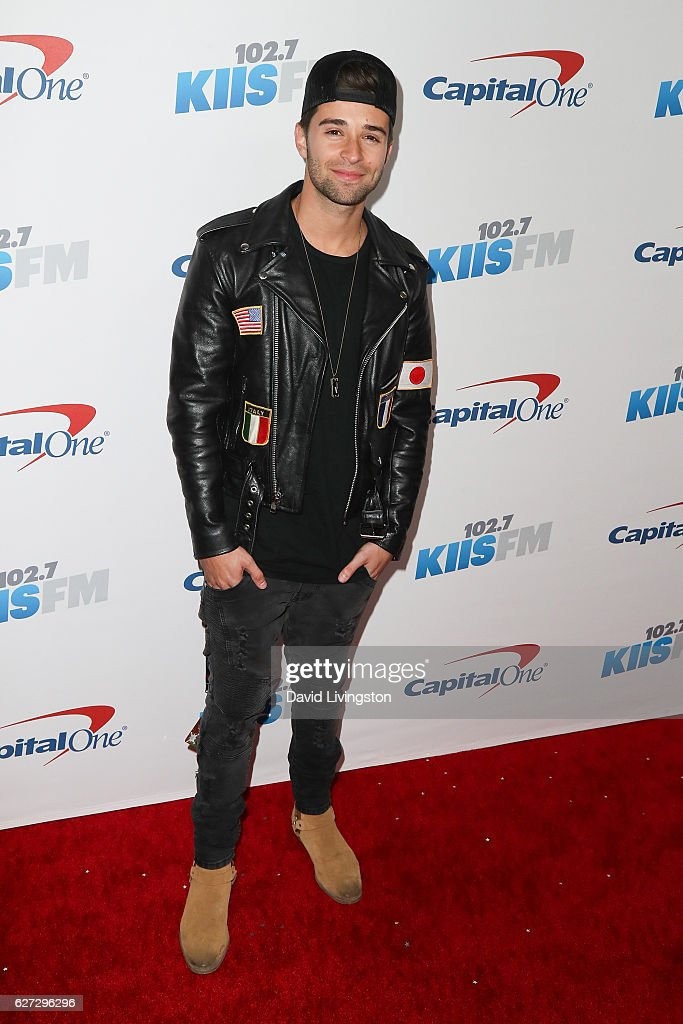 Rapper Jake Miller arrives at 102.7 KIIS FM's Jingle Ball 2016 at the Staples Center on December 2, 2016 in Los Angeles, California.