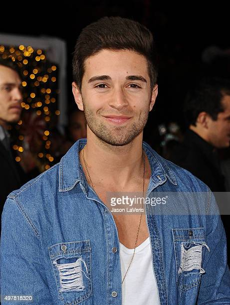 Rapper Jake Miller attends the premiere of 'The Night Before' at The Theatre At The Ace Hotel on November 18 2015 in Los Angeles California