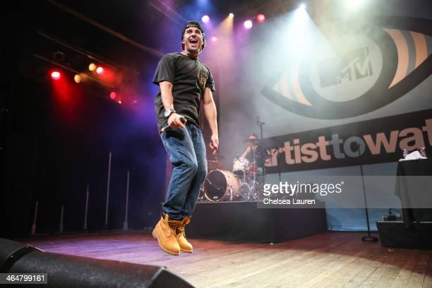 Rapper Jake Miller performs at MTV Artist to Watch kickoff event at House of Blues Sunset Strip on January 23, 2014 in West Hollywood, California.