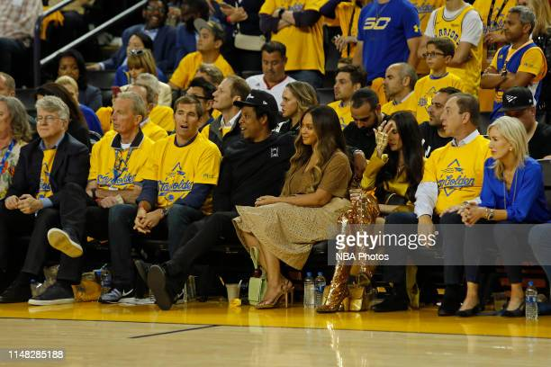 Rapper, Jay Z and Singer, Beyonce attend Game Three of the NBA Finals between the Toronto Raptors and the Golden State Warriors on June 5, 2019 at...