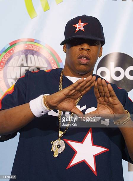 Rapper JayZ attends the 2001 Radio Music Awards at the Aladdin Resort and Casino October 26 2001 in Las Vegas NV