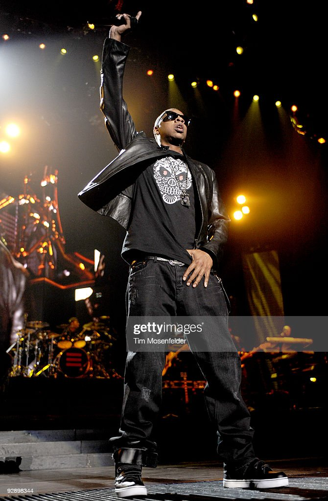 Jay z and nerd in concert fresno ca photos and images getty rapper jay z performs in support of his the blueprint 3 release at the save malvernweather Image collections