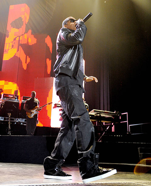 Jay z the blueprint 3 tour in los angeles photos and images getty rapper jay z performs onstage during his blueprint 3 tour at uclas pauley pavilion on malvernweather Choice Image