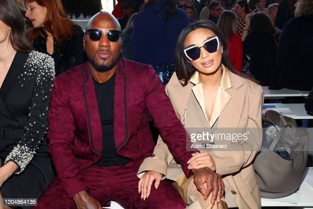 Rapper Jeezy and Jeannie Mai attend the Badgley Mischka front row during New York Fashion Week: The Shows at Gallery I at Spring Studios on February...