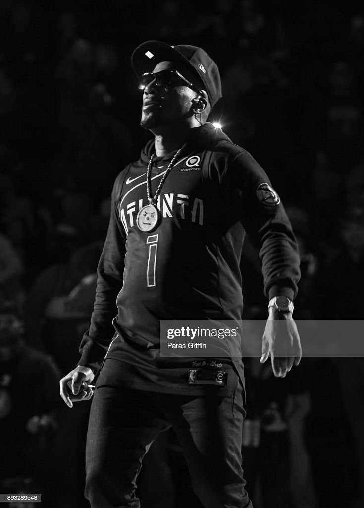 Jeezy Performs At Halftime During Atlanta Hawks vs Detriot Pistons Game