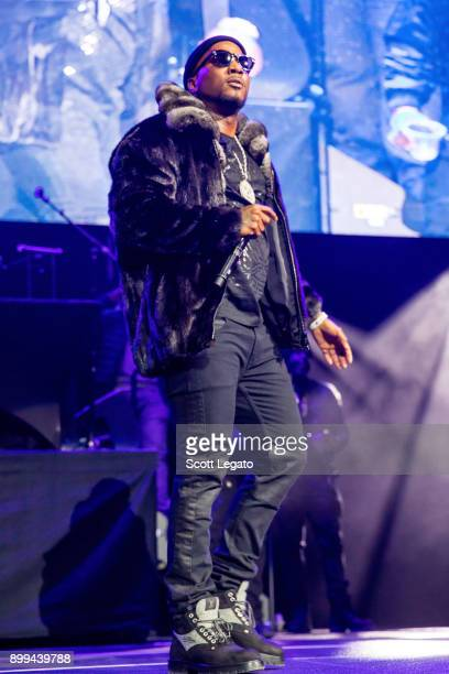 Rapper Jeezy performs during the Big Show at Little Caesars Arena on December 28 2017 in Detroit Michigan