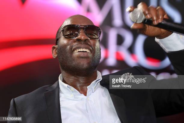 Rapper Jelleestone performs at the 2019 Canadian Music and Broadcast Industry Awards during Canadian Music Week 2019 at Rebel Entertainment Complex...