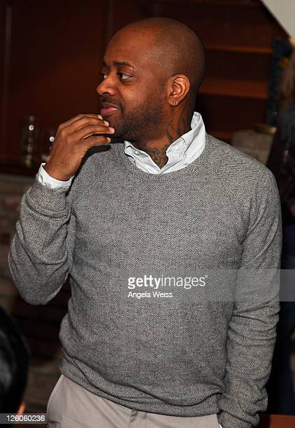 Rapper Jermaine Dupri attends the Friends N Family Dinner at The Jack Warner Estate on February 10 2011 in Los Angeles California