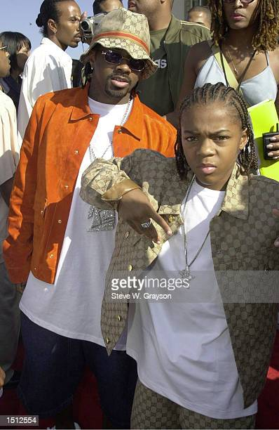 Rapper Jermaine Durpri and Lil Bow Wow arrive at the Source HipHop Music Awards held at the Pasadena Civic Center August 22 2000 in Pasadena CA