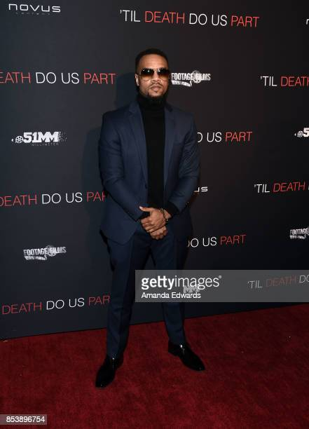 Rapper Jerome Jones arrives at the premiere of Novus Content's Til Death Do Us Part at The Grove on September 25 2017 in Los Angeles California