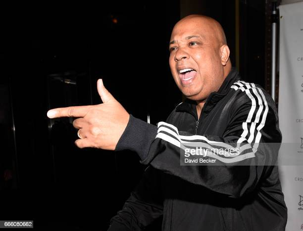 Rapper Joseph Rev Run Simmons arrives at Drai's Beach Club Nightclub at The Cromwell Las Vegas on April 8 2017 in Las Vegas Nevada