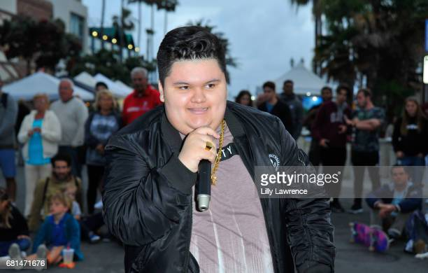 Rapper Jovan Armand performs at Mother's Day Night Out Concert at Surf City Nights on May 9 2017 in Huntington Beach California