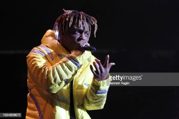 Rapper Juice Wrld performs at Power 1051's Powerhouse 2018 at Prudential Center on October 28 2018 in Newark New Jersey