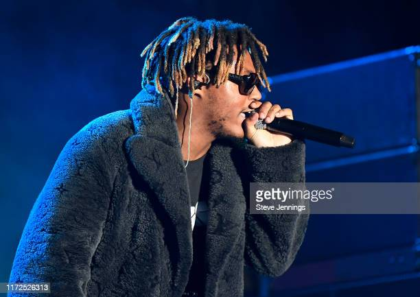 Rapper Juice Wrld performs at the 2019 Rolling Loud Music Festival on Day 2 at OaklandAlameda County Coliseum on September 29 2019 in Oakland...