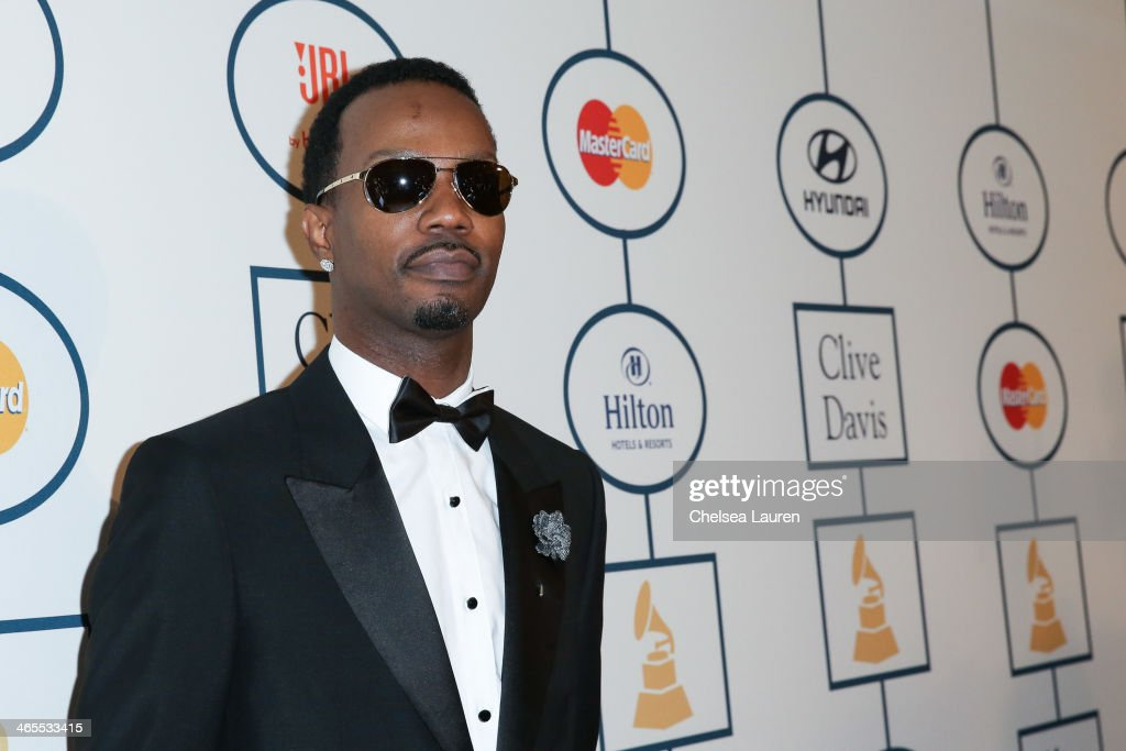 Rapper Juicy J arrives at the 2014 HYUNDAI / GRAMMYs Clive Davis Pre-GRAMMY Gala Activation + Equus Fleet Arrivals at The Beverly Hilton Hotel on January 25, 2014 in Beverly Hills, California.