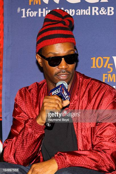 Rapper Juicy J is interviewed in the WGCIFM 'CocaCola Lounge' in Chicago Illinois on OCTOBER 24 2012