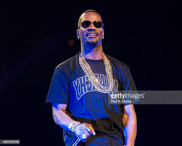 Rapper Juicy J performs onstage at the Power 106 Powerhouse at Honda Center on May 17 2014 in Anaheim California