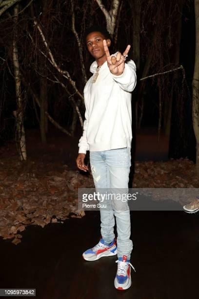 Rapper Julius Dubose aka A Boogie Wit Da Hoodie attends the Amiri Paris Menswear Fall/Winter 20192020 show as part of Paris Fashion Week on January...