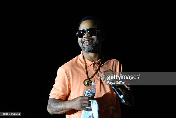 Rapper Juvenile performs onstage during 'The Legends of HipHop' concert at Wolf Creek Amphitheater on July 28 2018 in Atlanta Georgia