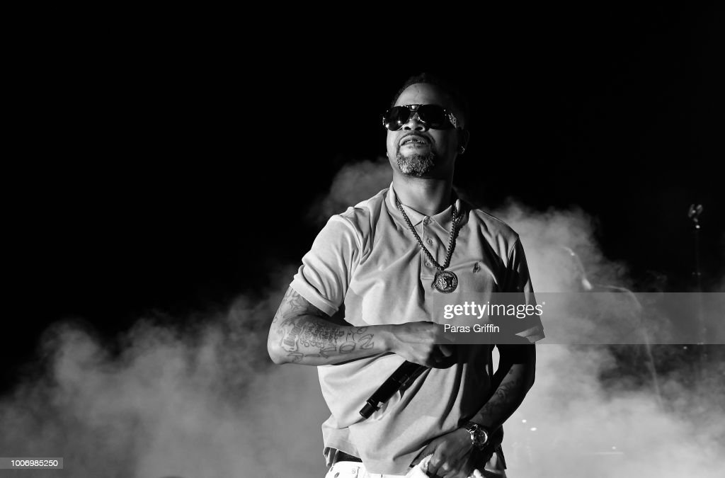 Rapper Juvenile performs onstage during 'The Legends of Hip-Hop' concert at Wolf Creek Amphitheater on July 28, 2018 in Atlanta, Georgia.
