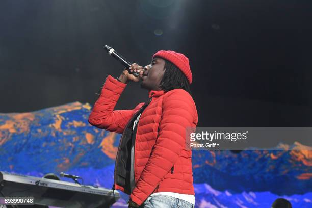 Rapper K Camp performs onstage at 3rd Annual V103 Winterfest Concert at Philips Arena on December 16 2017 in Atlanta Georgia