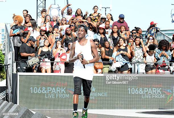 Rapper K Camp performs onstage during 106 Park Live Presented By Coca Cola during the 2014 BET Experience at LA LIVE on June 28 2014 in Los Angeles...