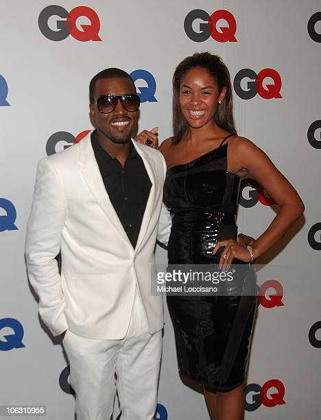 Rapper Kanye West and fiancee Alexis Phifer arrive to GQ's 50th Anniversary Celebration at Cedar Lake in New York City on September 18 2007