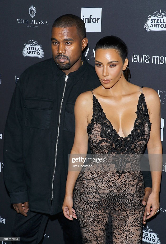 Rapper Kanye West and TV personality Kim Kardashian attend the Harper's BAZAAR celebrates 'ICONS By Carine Roitfeld' at The Plaza Hotel on September 9, 2016 in New York City.