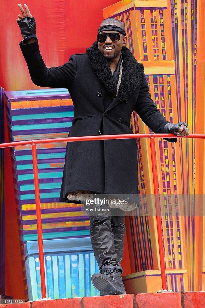 Rapper Kanye West attends the 84th Annual Macy's Thanksgiving Day Parade on November 25, 2010 in New York City.