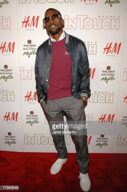 Rapper Kanye West attends the In Touch 5th anniversary party at Tenjune on October 10 2007 in New York City