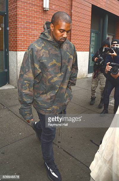 Rapper Kanye West is seen walking in Soho on May 1 2016 in New York City