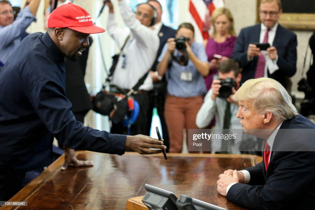 President Trump Hosts Kanye West And Former Football Player Jim Brown At The White House : ニュース写真