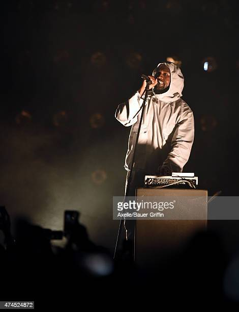 Rapper Kanye West performs at the 102.7 KIIS FM's Wango Tango at StubHub Center on May 9, 2015 in Los Angeles, California.
